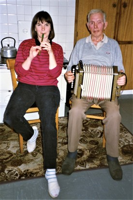 Photo:A musical interlude with Ann and her Dad Patrick