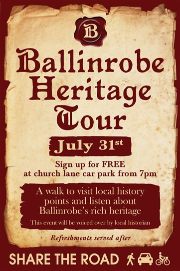 Photo: Illustrative image for the 'Ballinrobe Heritage Tour - FREE with refreshments afterwards' page