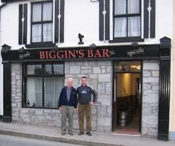 Photo:Family members outside Biggins Pub Bowgate Street, Ballinrobe