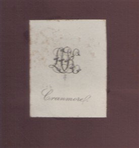 Photo:Copy of book plate from Cranmore House Library