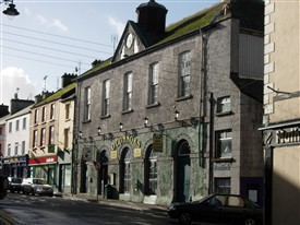 Photo:Courthouse Ballinrobe with clock and cupola.