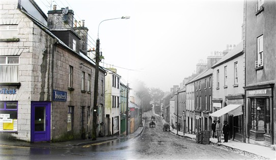 Photo:Bridge Street 2011 and 1895