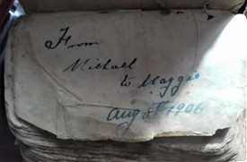 Photo:Prayer Book - From Michael to Maggie on their Wedding Day August 6th 1906