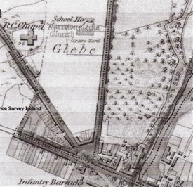"Photo:""Carrownalecka"" asmarked on an 1836 map with adjoining School both on Glebe lands."