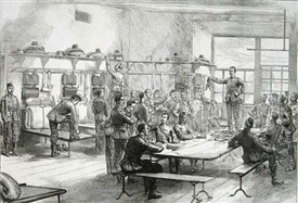 Photo:Barracks interior 1875