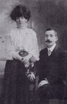 Photo:Bridget Murphy and John McTigue married 27th Dec. 1910 and lived in Ballinrobe
