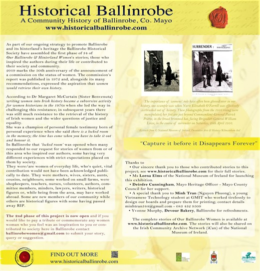 Photo: Illustrative image for the 'Women of Ballinrobe & its Hinterland - 2nd phase' page