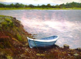 Photo:Lake boat at Cushlough