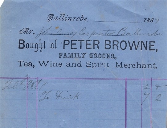 Photo: Illustrative image for the 'Brownes Shop, Main Street, Ballinrobe' page