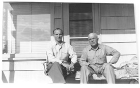 Photo:Martin & Uncle Ed Fahey c. 1949