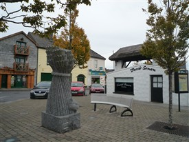 Photo:The Sheaf by Jackie McKenna c 2002.   Note Wool Store behind with it lifting wheel now Joanne May's Pharmacy