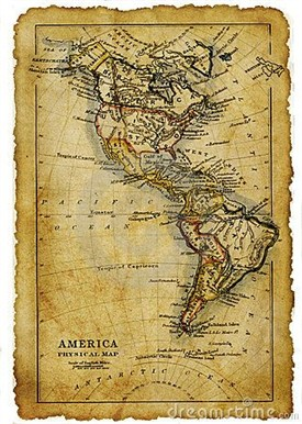 Photo:Old Map with route around South America