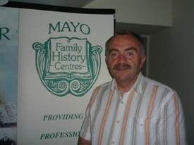 Photo:Mr. Gerard Delaney, of the South Mayo Family Research Centre at Main St., Ballinrobe, Co. Mayo