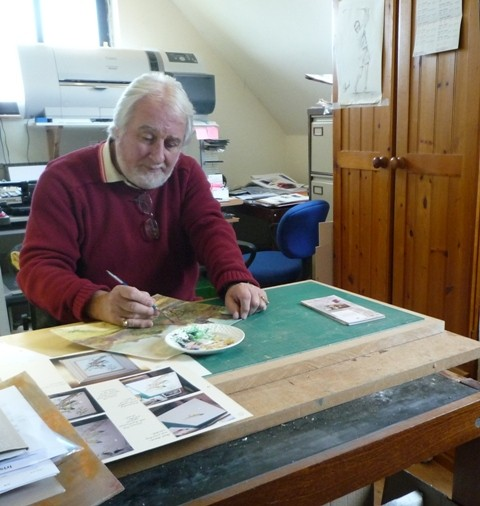 Photo:Rick in his studio near Ballinrobe