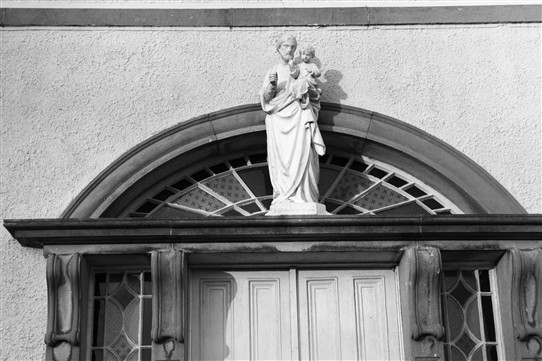 Photo:St. Joseph over door of Convent, Ballinrobe