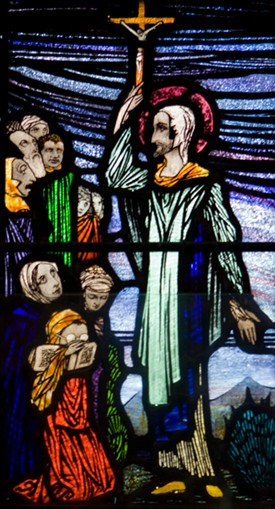 Photo:Harry Clarke's predella from St. Fechin's at St. Mary's, Ballinrobe, Co. Mayo