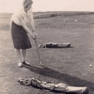 Photo:Miss Rita Hynes RIP playing golf on old Golf Course at the Lough, Ballinrobe c 1925
