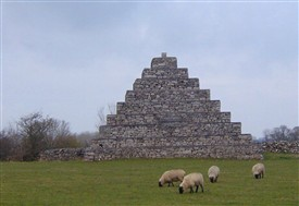Photo:Pyramid on left just before entering The Neale heading towards Cong - near Ballinrobe