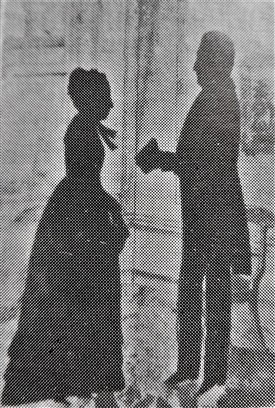 Photo:A Silhouette which hung in Dorothy's home of her Grandparents Andersons painted by Charles Robertson