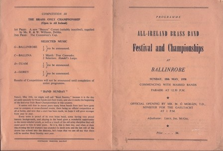 Photo: Illustrative image for the 'Ballinrobe Brass Band' page