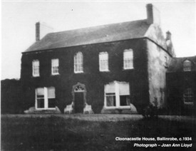 Photo:Cloonacastle House c. 1934
