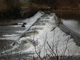 Photo:The fish pass or steps at the weir.