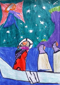 Photo: Illustrative image for the 'Harry Clarke's Starry Night - base of the St. Brendan Panel' page