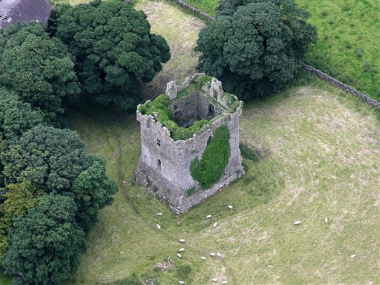 Photo:Ariel image of Shrule Castle