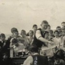 Photo:Sports Day, Ballinrobe - C.B.S. national school in the early 1950s.   Kevin McDarby receiving prize from Brother Doogan.