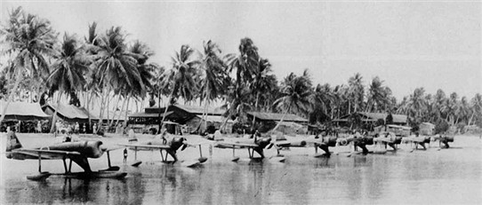 Photo:Squad of Rufe's at Bougainville; these things were very nimble even with the pontoons