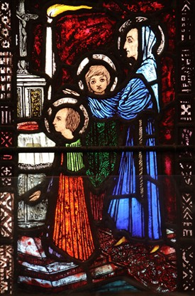 Photo: Illustrative image for the 'Detail from St. Jarlath's stained-glass window by Harry Clarke' page