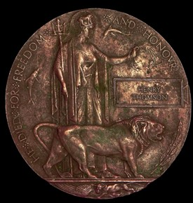 Photo:The death penny/plaque was awarded to the widows of soldiers who died during the First World War.