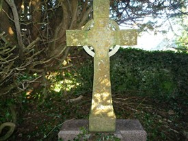 Photo:A Livesay headstone in the Tempall na Lecka graveyard at Cushlough, Ballinrobe.