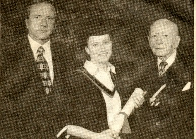 Photo:Three generationf of McDarby doctors. Vincent and Dr. McDarby with Geraldine (Mc Darby) centre.